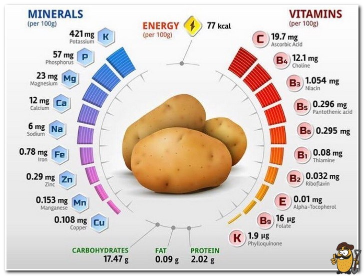 витамины и минералы картофель