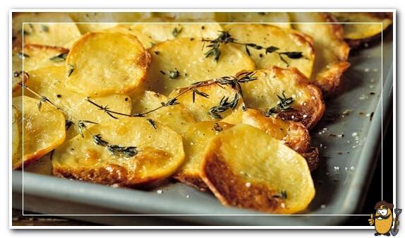 картофель запеченный кружочками
