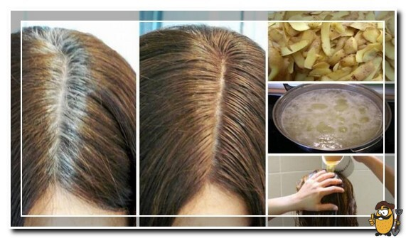 картофельный отвар от седины волос