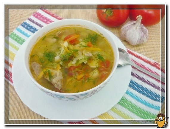 Суп из говядины и овощей
